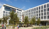 UCSF, Mission Hall-Block 25A: 264,000sf award winning academic office. LEED Gold, Traditional Design Build.