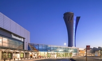 Renovation of existing SFO Terminal 2.  Custom curtain walls for the new control tower