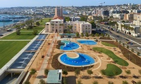 San Diego Admin Center Waterfront Park & Parking Structure - Above ground park and 105,000 sf, 254-car parking garage.