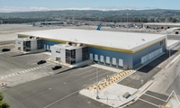 SFO West Cargo Facility. Design/Build, new, 80,000 SF high bay, 400-foot long span cargo handling and office facility.