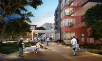 100,000 SF design-build project, provides 400 new beds to students at CSU Northridge.