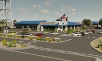New 40,000 SF LEED Silver steel and masonry single-story California Highway Patrol station.